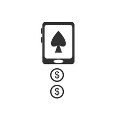 Black icon on white background casino online vector
