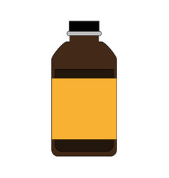 Cosmetic bottle tinted glass icon image vector