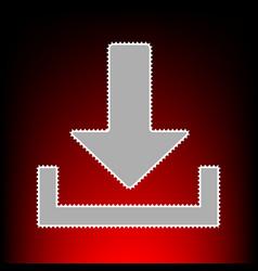 download sign postage stamp or old vector image