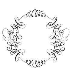 Elements of vintage flourish set decorative whorls vector