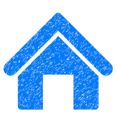 House icon grunge watermark vector