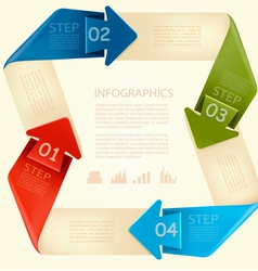 Info graphics banner with numbers Modern design vector image vector image