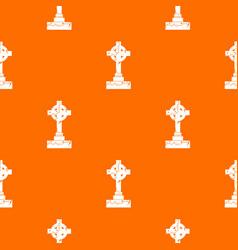 irish celtic cross pattern seamless vector image vector image