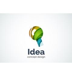 Light bulb logo template new idea energy or vector image vector image
