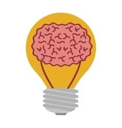 Light bulb with brain inside vector