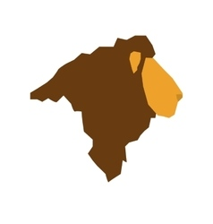 Lion african animal vector