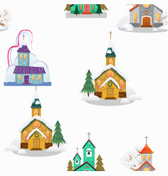 Merry christmas and happy new year seamless vector