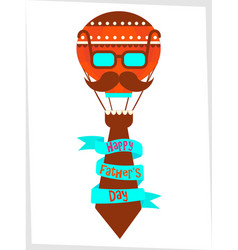Poster happy fathers day greetings vector