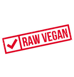 Raw vegan rubber stamp vector