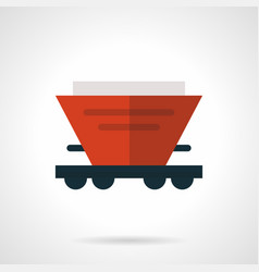 red hopper wagon flat icon vector image vector image