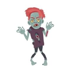 Scary Zombie Man Walking Flat vector image vector image