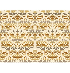 Seamless abstract floral damask background beige vector