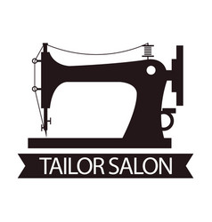 Tailor salon advertising logo vector