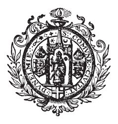 The seal for the civil corporation of durham and vector