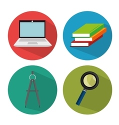 collection school concept vector image
