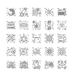 Line icons with detail 19 vector