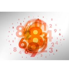 Abstract numbers orange vector