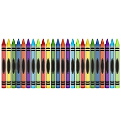 Group of colorful large crayons vector