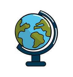 Earth planet desk tool decoration vector
