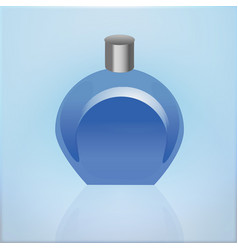 Realistic mockup cosmetic bottle container vector