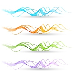 Abstract colorful transparent wave vector