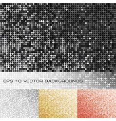 Set of sparkle sequin backgrounds vector