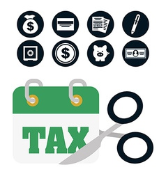 Pay taxes vector