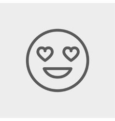 In love thin line icon vector image