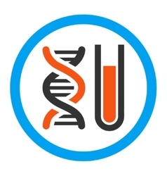Genetic analysis rounded icon vector