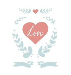 Set of tiny hand drawn design elements for love vector
