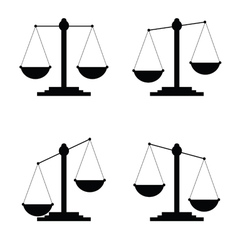 Judge icon in black color vector