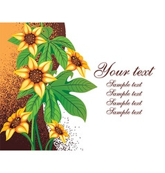 Floral background with text space vector