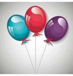 Party balloons design vector