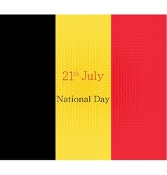 Abstract image of the Belgian flag vector image vector image