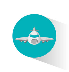 Airplane passenger flying icon vector