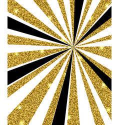 Black and golden rays vector