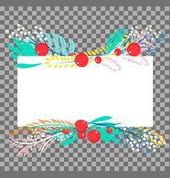 botanical banner vector image vector image