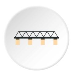 Bridge with pillars icon flat style vector