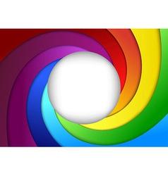 Bright rainbow background - focus vector image