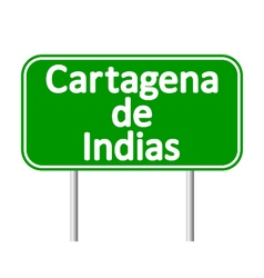 Cartagena de indias road sign vector