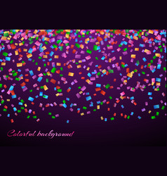 confetti in air pattern vector image vector image
