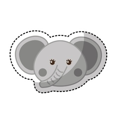 Cute elephant animal icon vector
