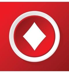 Diamonds icon on red vector
