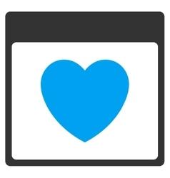 Favourite heart calendar page toolbar icon vector