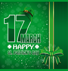 festive green background to st patricks day vector image