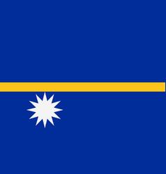 flag of nauru vector image vector image