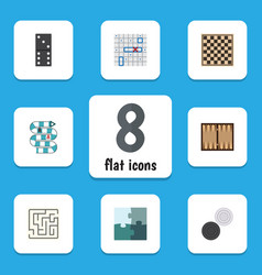 Flat icon play set of multiplayer sea fight vector