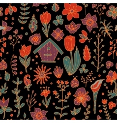 Floral spring seamless pattern vector image vector image
