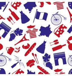 France country theme symbols seamless pattern vector