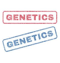 Genetics textile stamps vector